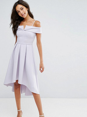 Miss Selfridge Bardot Drop Hem Scuba Dress