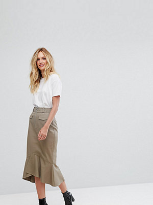 Asos Tall Midi Skirt with Zip and Pocket Detail