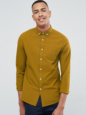 ASOS TALL Regular Fit Textured Shirt With Chest Pocket