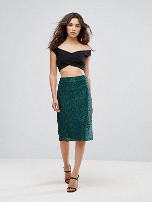Rage Lace Pencil Midi Skirt