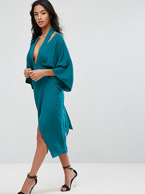 ASOS Petite Kimono Sliced Midi Dress