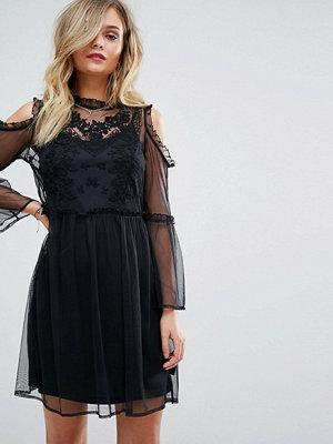 Miss Selfridge Embroidered Mesh Dress