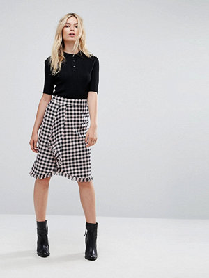 Max & Co Max&Co Diario Gingham Wrap Skirt