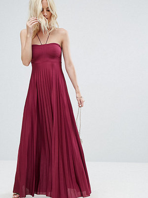 ASOS Petite Pleated Maxi With Strappy Neck Dress