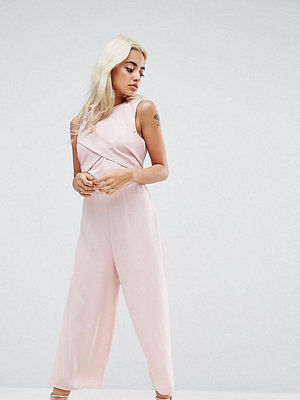 ASOS Petite Jumpsuit with Wrap Front and Tie Back