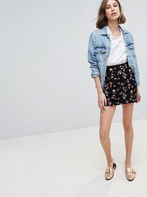 Oasis Floral Jacquard Mini Skirt - Multi