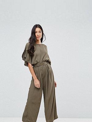 Asos Tall Tea Jumpsuit with Elasticated Belt