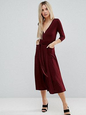 ASOS Petite Crepe Wrap Midi Dress