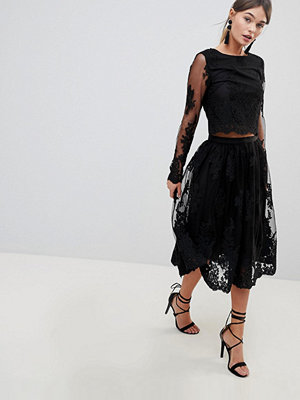 Zibi London Zibi Lace Midi Skirt