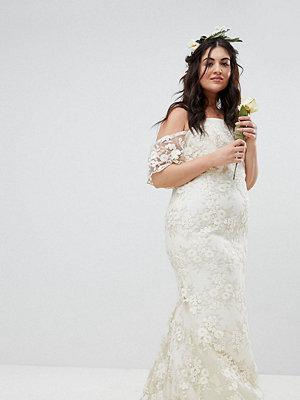 ASOS Curve ASOS EDITION Curve Floral Lace Bandeau Maxi Wedding Dress