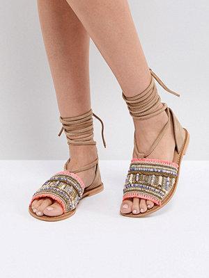 ASOS JAVINDA Suede Embellished Summer Shoes