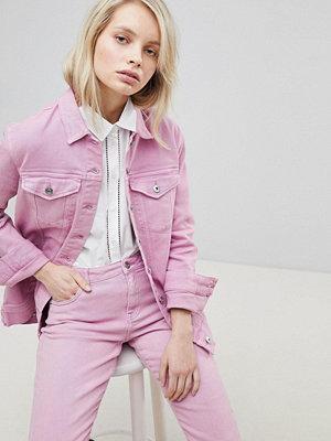 Only Oversized Denim Jacket - Begonia pink