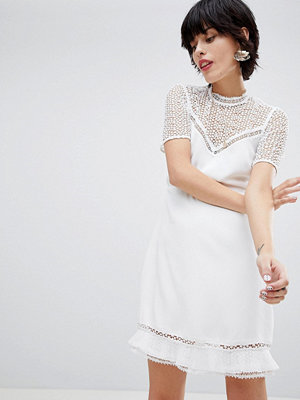 Warehouse Lace Tea Dress - Ivory