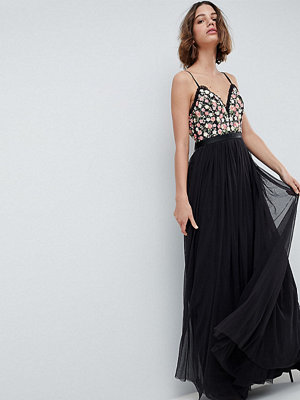 Needle & Thread Cami Maxi Dress With Embellished Detail - Graphite