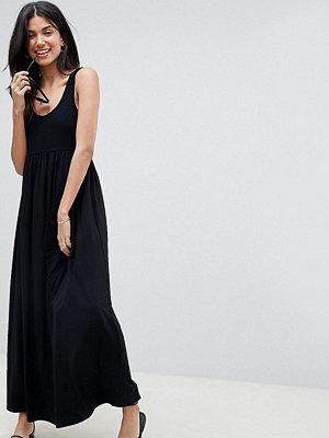 Asos Tall ASOS DESIGN Tall mixed fabric strappy maxi dress