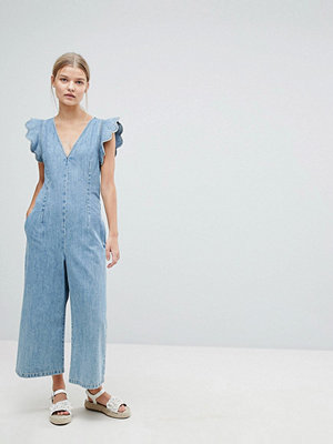 Max & Co Max&Co Cropped Denim Jumpsuit