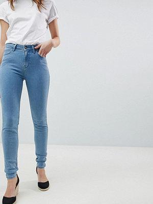 Lee Scarlett Jeans med hög midja och smal passform Mellanblå