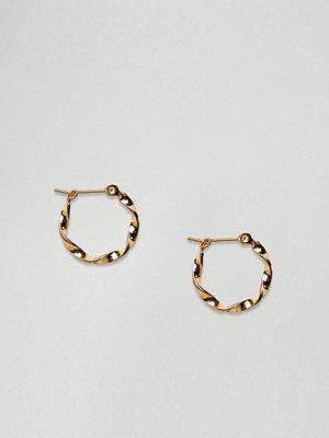 ASOS örhängen DESIGN gold plated sterling silver thick twist hoop earrings