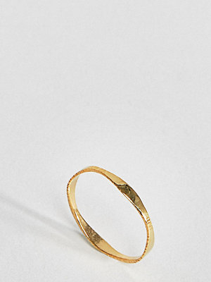 ASOS DESIGN gold plated sterling silver graduating flat face ring