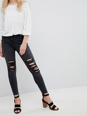 Parisian Skinny Jeans with Multi Rips