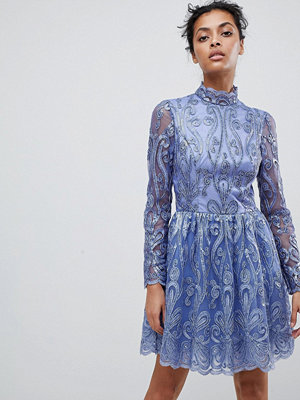 Chi Chi London embellished sequin mini skater prom dress - Lilac