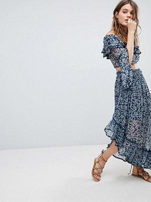 Rahi Cali Bluebell Asymmetric Skirt