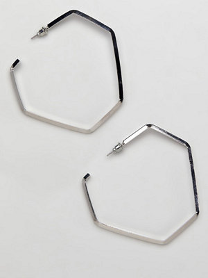 ASOS örhängen DESIGN open hexagon hoop earrings