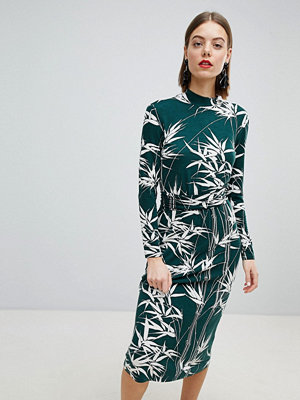 Warehouse Barbican Collection Climbing Bamboo Midi Dress