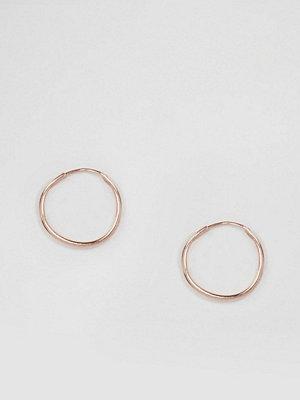 ASOS örhängen Rose Gold Plated Sterling Silver 9mm Hoop Earrings