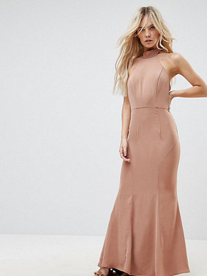 Jarlo Petite Tie Halterneck Fishtail Maxi Dress
