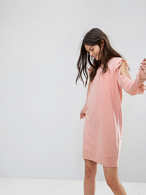 Noisy May Sweatshirt Dress with Open Sleeve Detail