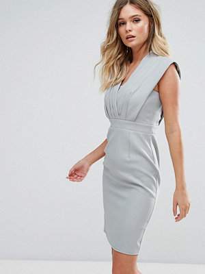 Little Mistress Pencil Midi Dress With Pleated Detail