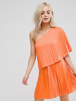 ASOS Petite One Shoulder Pleat Mini Dress