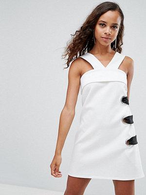 ASOS Petite Scuba Eyelet Mini Shift Dress