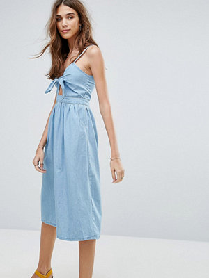New Look Bow Front Midi Dress