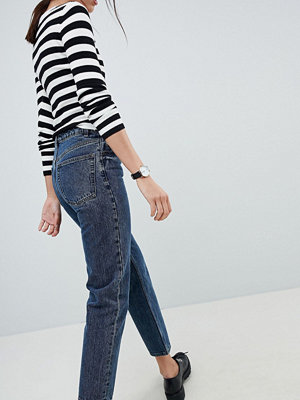 ASOS DESIGN recycled florence authentic straight leg jeans in viola deep blue wash - Deep blue