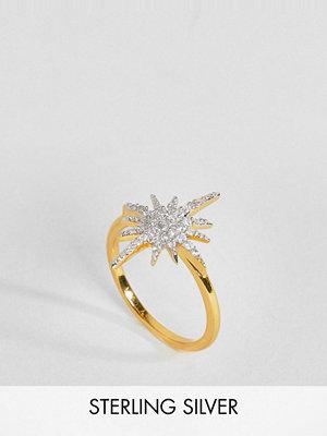 Carrie Elizabeth 14 Carat Gold Vermeil Diamond Ring