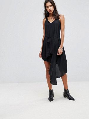 Religion Iris Asymmetric Dress - Jet black