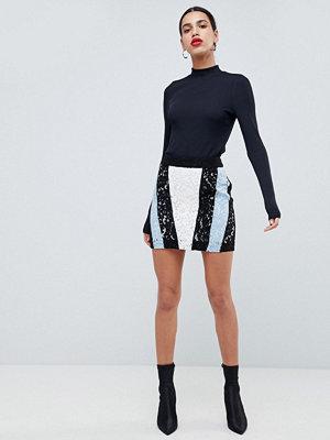 Morgan Contrast Lace Panel Mini Skirt