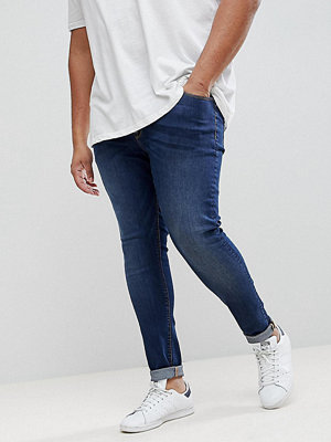 ASOS PLUS Extreme Super Skinny Jeans In Dark Wash