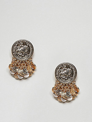 ASOS örhängen DESIGN coin shower earrings
