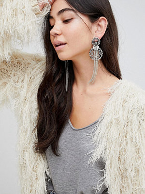 ASOS örhängen DESIGN statement rope style chain tassel earrings
