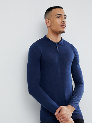 ASOS TALL Muscle Fit Knitted Polo