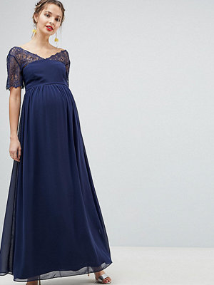 ASOS Maternity ASOS DESIGN Maternity lace insert panelled maxi dress