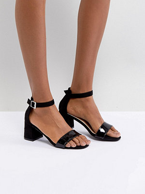 Glamorous Barely There Mid Heeled Block Sandal
