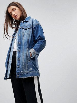 Only Longline Denim Jacket - Medium blue