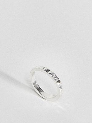 ASOS DESIGN faceted detail thumb ring
