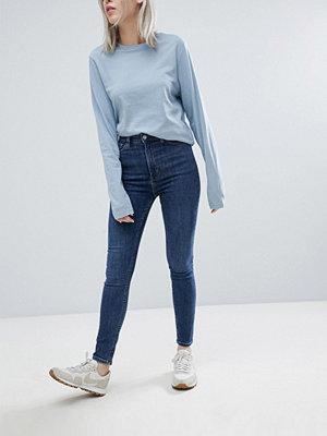 Weekday Body High Waist Super Stretch Skinny Jeans - Blue coast