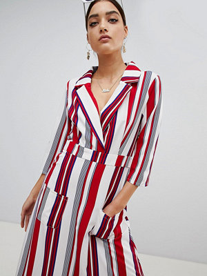 PrettyLittleThing Striped Maxi Shirt Dress