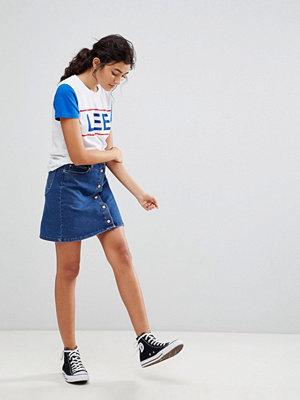 Lee Button Through Denim Skirt